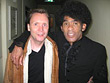 Uwe Naboreit als Gitarrist bei der RTL Chartshow mit Bobby Farrel von Boney M