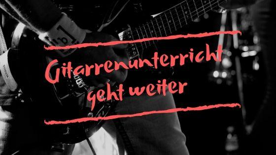 Gitarrenunterricht in Düsseldorf und Essen geht weiter - Corona Virus
